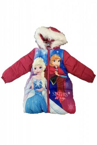Geaca de iarna roz Elsa   Anna