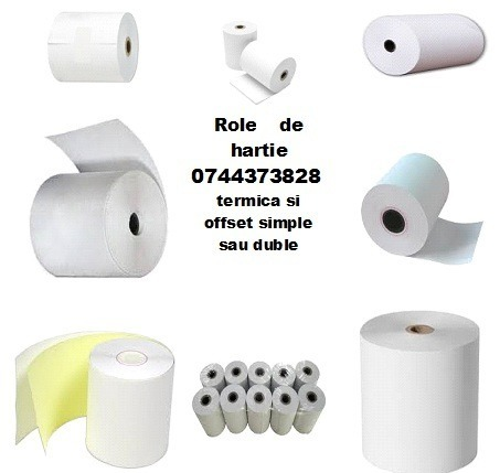 Role hartie termica si offset