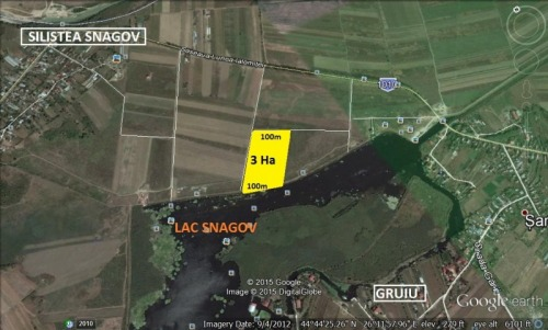 Teren Snagov Lac 3 Ha cu acces